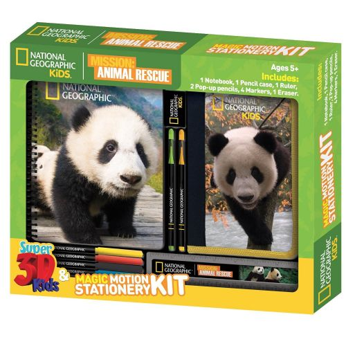 National Geographic  Animal Rescue Giant Panda Lenticular 3D Stationery Sets